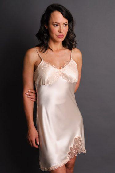 Paloma Satin Nightgown Cream