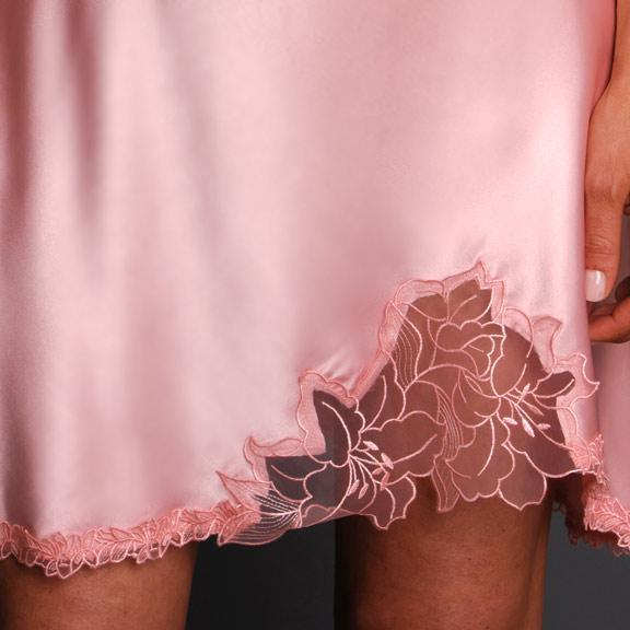 Paloma Satin Nightgown Hem Detail c1d577f37