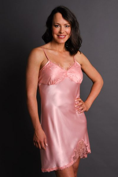 Paloma Satin Nightgown Pink
