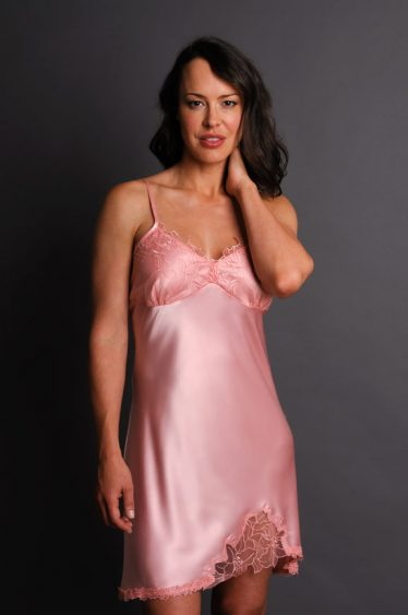Enchantment Silk Nightgown Pink