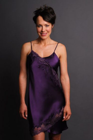 Tempting Silk Nightgown Front
