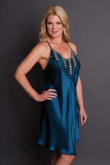 Juliette Ann Silk Nightgown Jade