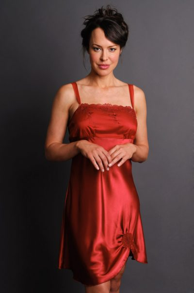 Ignite Nightgown Front Burgundy