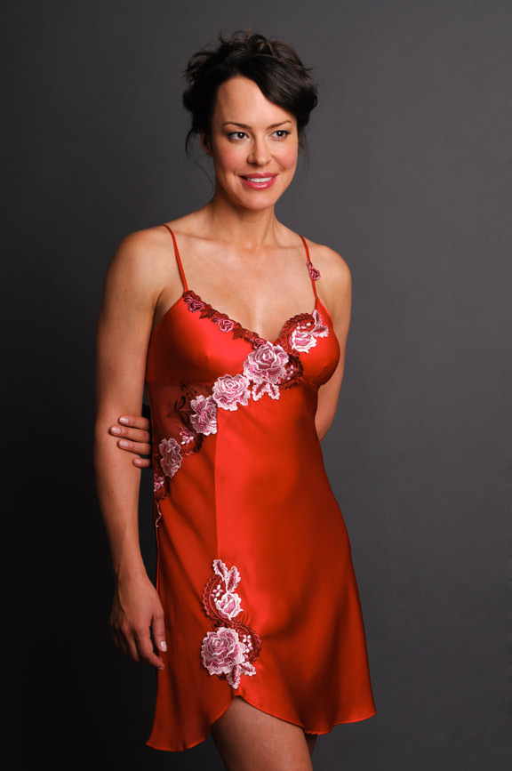 Fantasy Satin Red Nightgown