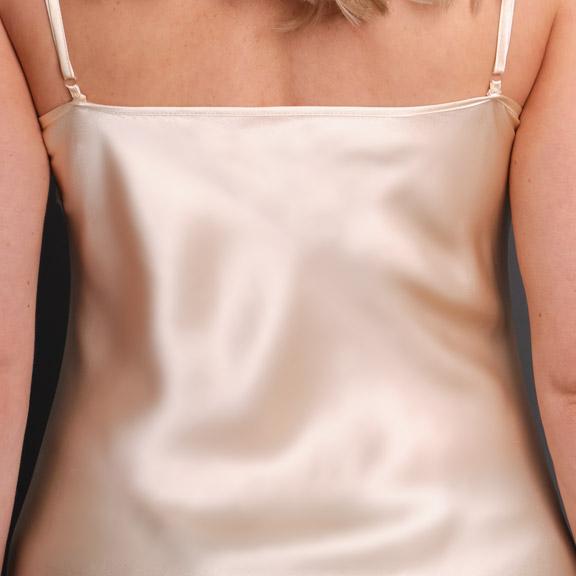 0a0031e94f3 Anais Long Silk Nightgown Back Detail