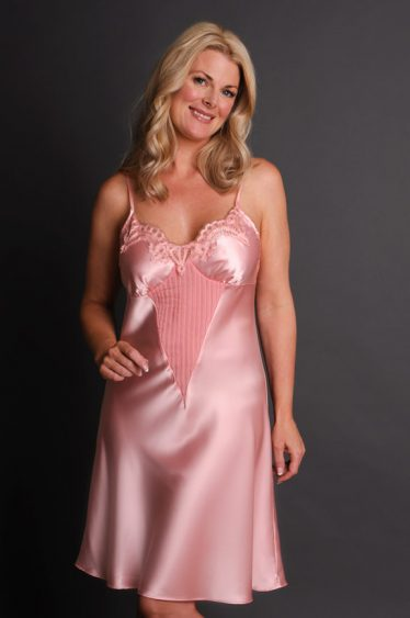 Allusion Nightgown Front Pink