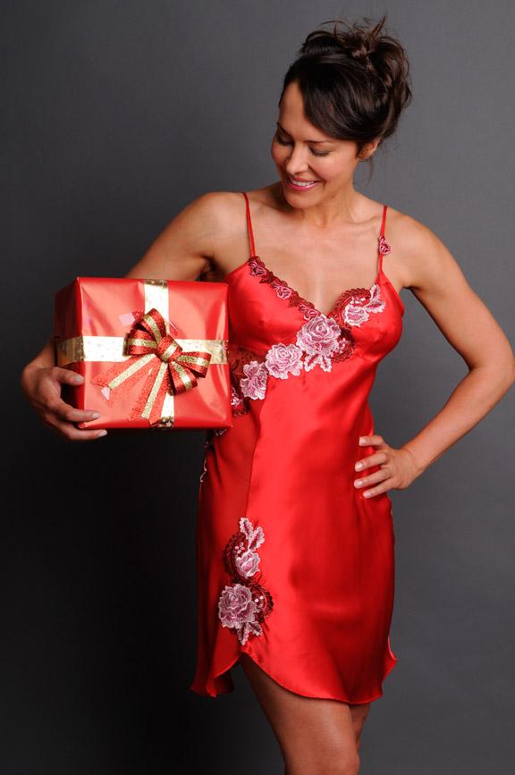 Fantasy Satin Nightgown Christmas