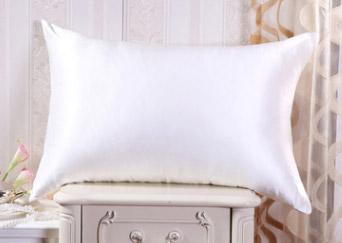 silk pillowcase white