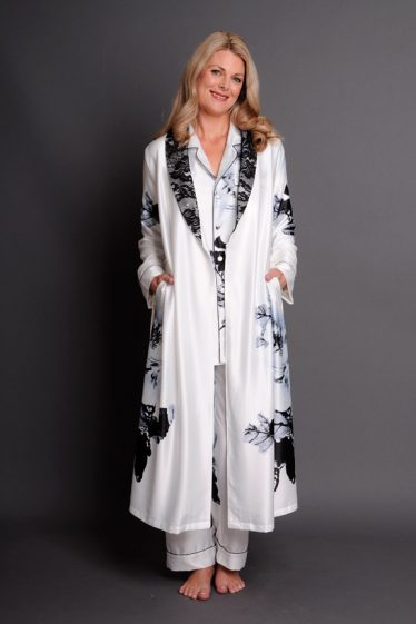 Paris Blanc Robe & PJ set front open