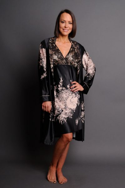 angelique short robe and short nightie set