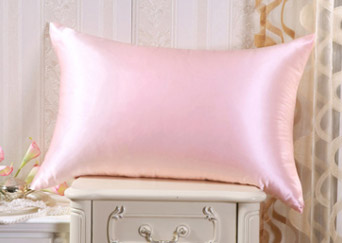 silk pillowcase soft pink