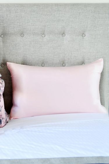 silk pillowcase pink