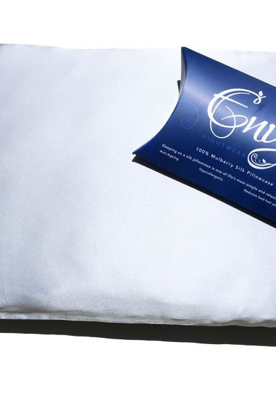 silk pillowcase silver