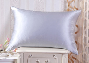silk pillowcase silver grey
