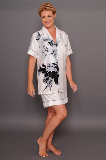 Paris blanc satin short PJs