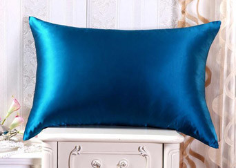 Silk pillowcase duck egg blue