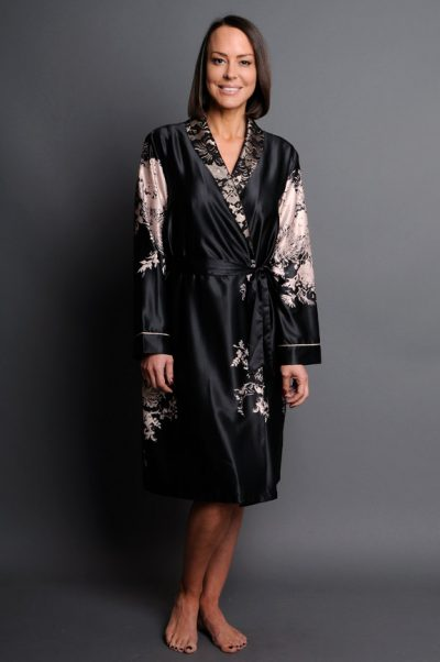 Angelique satin short robe