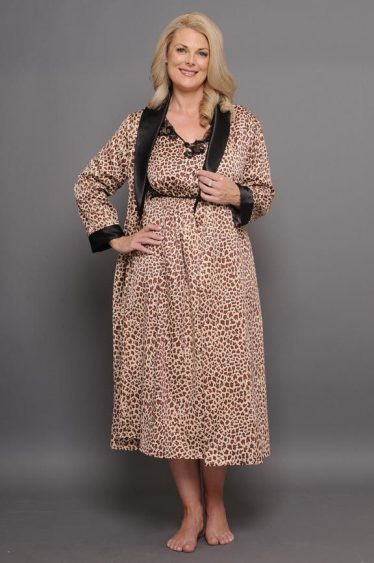 Rapture calf length gown robe set