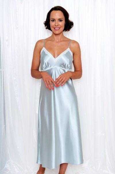 maxime long satin nightgown