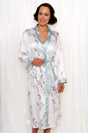 elise satin calf robe