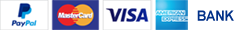payment options paypal, visa mastercard, american express, bank