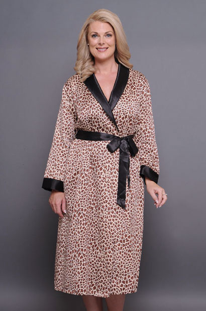 rapture brushed back satin robe