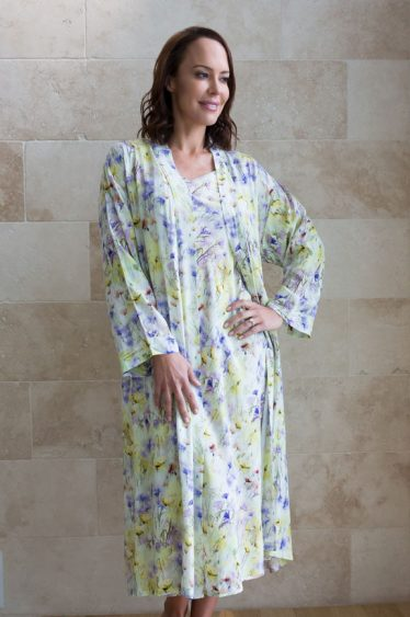 seraphina bamboo long nightie robe set