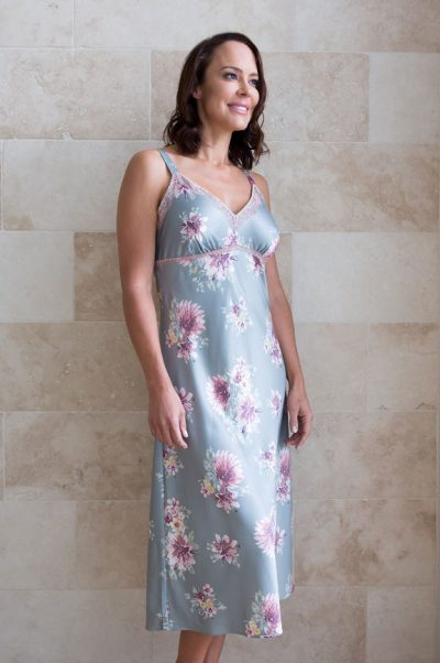 symphony long satin nightie