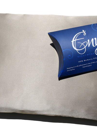silk pillowcase coffee