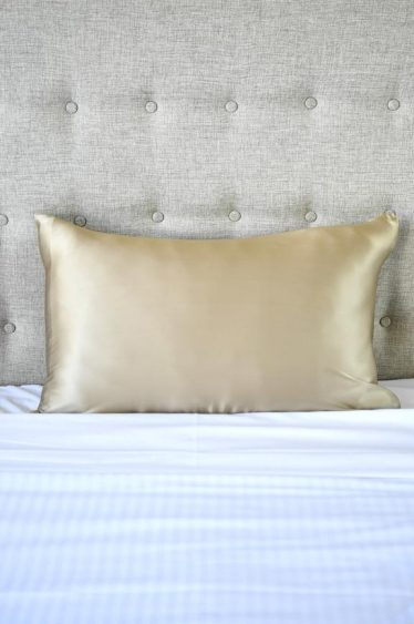silk pillowcase coffee