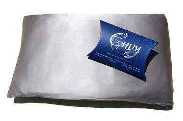 silk pillowcase dark grey