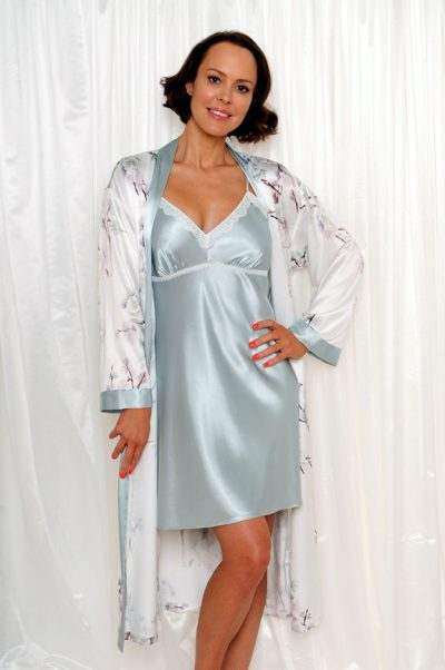 elise robe with maxime short nightie