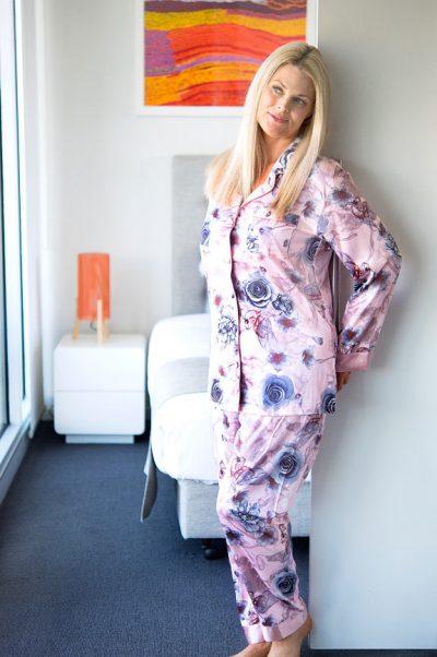 lacey satin pyjamas