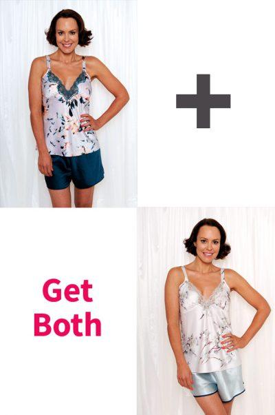 Sophia Satin Cami Shorts Set & Elise Satin Cami Shorts Set